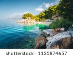 perfect place of the calm... | Shutterstock . vector #1135874657