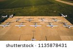 aerial view of a symmetry... | Shutterstock . vector #1135878431