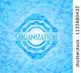 organization light blue emblem. ... | Shutterstock .eps vector #1135880435