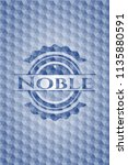 noble blue emblem or badge with ... | Shutterstock .eps vector #1135880591