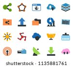 colored vector icon set  ... | Shutterstock .eps vector #1135881761