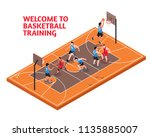 sport club facility fields... | Shutterstock .eps vector #1135885007