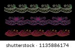 abstract beautiful applique... | Shutterstock .eps vector #1135886174