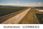 aerial view of a light aircraft ... | Shutterstock . vector #1135886321