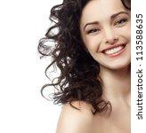 portrait of attractive ... | Shutterstock . vector #113588635