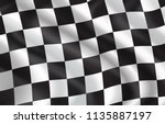 checkered flag for car racing... | Shutterstock .eps vector #1135887197