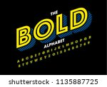 vector of modern bold font and... | Shutterstock .eps vector #1135887725