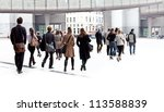 a crowd moving against a... | Shutterstock . vector #113588839