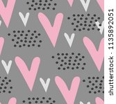 seamless pattern with cute... | Shutterstock . vector #1135892051