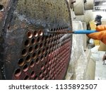 focus on the condenser tube ... | Shutterstock . vector #1135892507