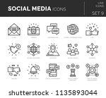 set of vector social media... | Shutterstock .eps vector #1135893044