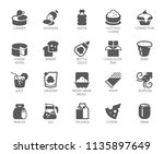 drink and food glyph icons. 20...   Shutterstock .eps vector #1135897649