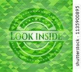 look inside realistic green... | Shutterstock .eps vector #1135900895