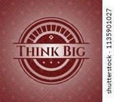 think big red emblem. retro | Shutterstock .eps vector #1135901027