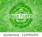 beer party green emblem with... | Shutterstock .eps vector #1135901051