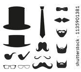 icon man day element set.... | Shutterstock . vector #1135901381