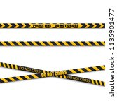 black and yellow caution lines... | Shutterstock .eps vector #1135901477
