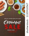oktoberfest sale advertisement... | Shutterstock .eps vector #1135910567