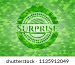 surprise realistic green emblem.... | Shutterstock .eps vector #1135912049