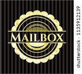 mailbox gold emblem or badge | Shutterstock .eps vector #1135912139