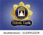 golden emblem with picture... | Shutterstock .eps vector #1135912229