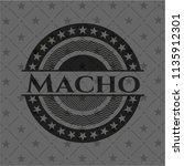 macho black emblem. vintage. | Shutterstock .eps vector #1135912301