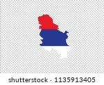 serbia map outline national... | Shutterstock .eps vector #1135913405