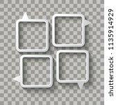 four white speech bubbles on... | Shutterstock .eps vector #1135914929