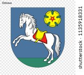 emblem of ostrava. city of... | Shutterstock .eps vector #1135918331