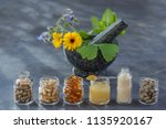 medicine  healthcare ... | Shutterstock . vector #1135920167