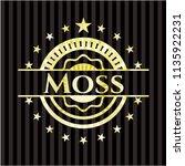 moss gold emblem | Shutterstock .eps vector #1135922231