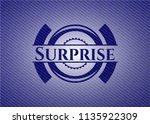 surprise emblem with denim... | Shutterstock .eps vector #1135922309