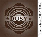 busy wooden emblem. retro | Shutterstock .eps vector #1135922435