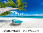 tropical beach background as... | Shutterstock . vector #1135932671