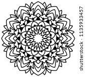 laser cutting mandala. vector... | Shutterstock .eps vector #1135933457