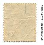 the reverse side of a postage... | Shutterstock . vector #113594089
