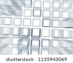 abstract 3d background... | Shutterstock .eps vector #1135943069