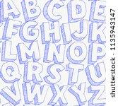 large white chalk letters hand... | Shutterstock .eps vector #1135943147
