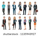 group of business men and... | Shutterstock .eps vector #1135943927