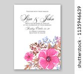 floral wedding invitation or... | Shutterstock .eps vector #1135946639