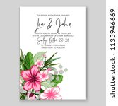 floral wedding invitation or... | Shutterstock .eps vector #1135946669