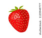 whole strawberry. vector color... | Shutterstock .eps vector #1135949777