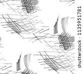 various pen hatches. seamless... | Shutterstock .eps vector #1135951781