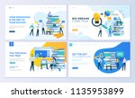 set of web page design... | Shutterstock .eps vector #1135953899