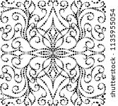 dotted vintage vector seamless... | Shutterstock .eps vector #1135955054