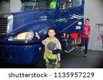 children on vacation children's ... | Shutterstock . vector #1135957229