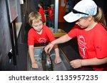 children on vacation children's ... | Shutterstock . vector #1135957235