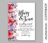floral wedding invitation...   Shutterstock .eps vector #1135958429