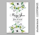 floral wedding invitation...   Shutterstock .eps vector #1135958435