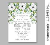 floral wedding invitation...   Shutterstock .eps vector #1135958441